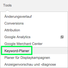 Google AdWords Keyword Planer